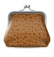 leather purse on white background for design vector image vector image