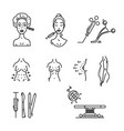 line icons plastic surgery aesthetic medicine