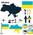 map ukraine vector image