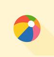 multicolored beach ball icon vector image vector image
