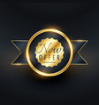 New offer golden label and badge design for your