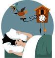 Not a morning person vector image