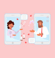 online dating and romantic concept vector image vector image