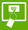 online shopping icon green vector image vector image