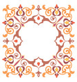 ornamental luxury frame hand crafts vector image