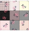 Patchwork with roses vector image vector image
