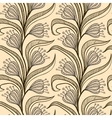 Pattern with stylized drawings of flowers vector image vector image