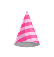 pink party hat celebration party symbol cartoon vector image
