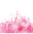 pink-splash-watercolor vector image