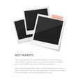 Remember every moment Set sticked down vector image vector image