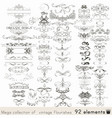 set calligraphic elements and page decorations vector image