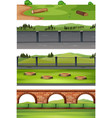 set of diffrent nature scene vector image vector image