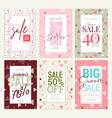 set of mobile ads and posters summer sale banners vector image vector image