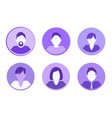 social network people set vector image vector image
