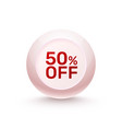 sphere banner promotional offer vector image vector image