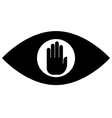Stop spying icon vector image vector image