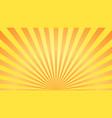 sun rays background orange yellow radiate sun vector image vector image