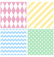 tile pattern with chevron zig zag polka dots vector image vector image