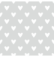 Tile pattern with white hearts on grey background vector image vector image