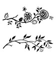 two branches vector image vector image
