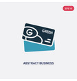two color abstract business card icon from other vector image vector image