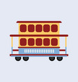 two-story tram isolated on background side view vector image vector image