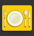 utensils and fork plate knife spoon vector image
