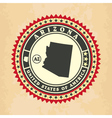 vintage label-sticker cards arizona vector image