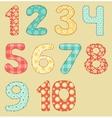 Vintage numbers patchwork set vector image vector image