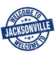welcome to jacksonville blue stamp vector image vector image