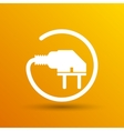 Electric outlet icon plug cord power vector image