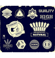 Vintage labels on the black Collection 3 vector image