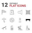 12 warning icons vector image vector image