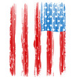 american broken flag vintage flag design vector image
