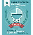 Baby Boy Shower Invitation vector image vector image