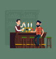 bar scene with bartender and customer vector image vector image