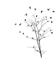 Birds and tree silhouettes vector | Price: 1 Credit (USD $1)