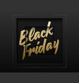 black friday abstract square paper cut vector image vector image