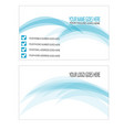 blue abstract business card vector image vector image