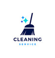 broom sparkle cleaning service logo icon vector image