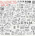 Business Doodle Element Set vector image