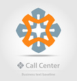 Call center business icon vector image
