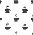 cap of tea seamless pattern vector image vector image