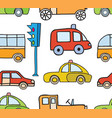 cartoon cars seamless vector image vector image