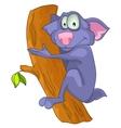 cartoon character sloth vector image vector image