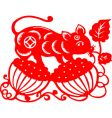 Chinese new year rat 2008 vector image vector image