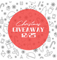 christmas giveaway banner vector image vector image