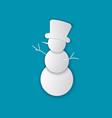 christmas paper cut snowman vector image