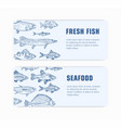 collection monochrome web banner templates vector image
