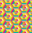 colorful hexagon seamless vector image
